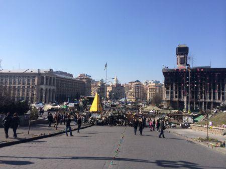 Zerstörung auf dem Maidan