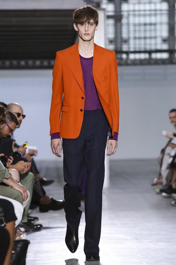 Burnt orange and dark pink underline the retro vibe, Costume National