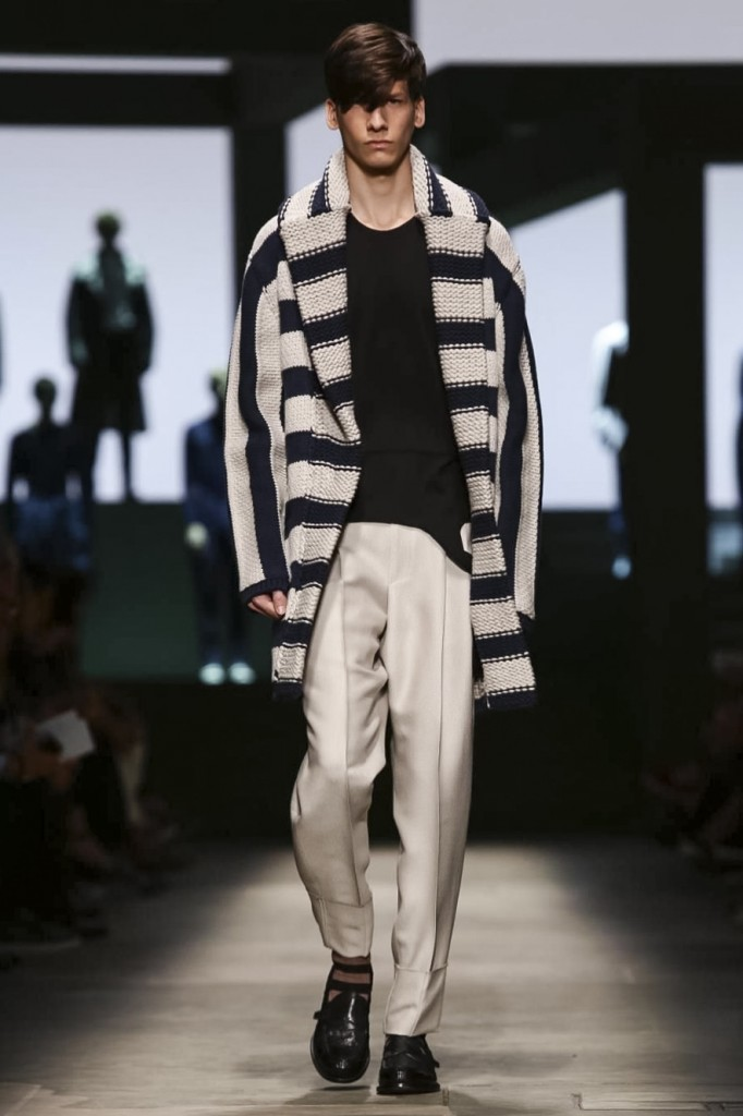 In Pilati's hands even a cardigan becomes luxury men's wear, Ermenegildo Zegna Couture
