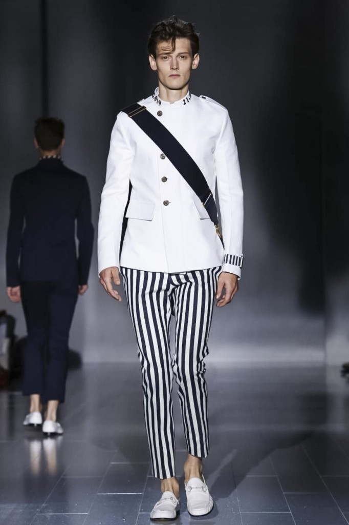 Cadet on top and pirate below, Gucci's deft mélange at Gucci