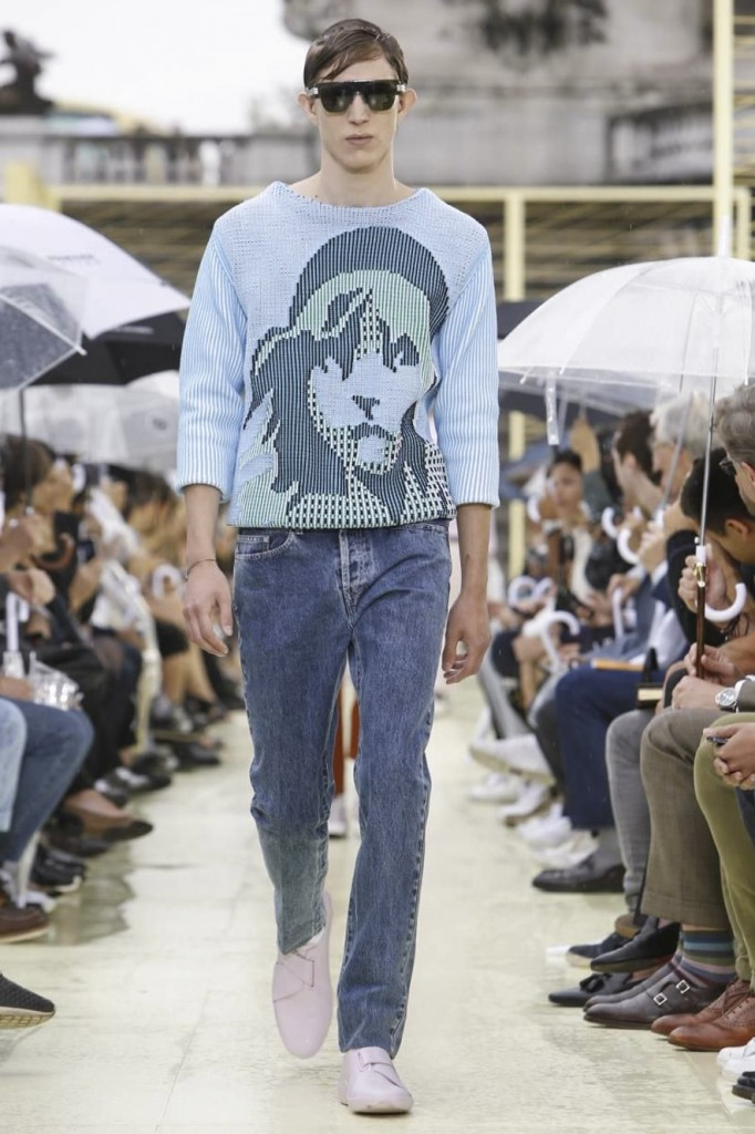 Lim and Leon present velcro sneakers, acid jeans and Liberty-printed knits as fashion's latest game-changers, at Kenzo