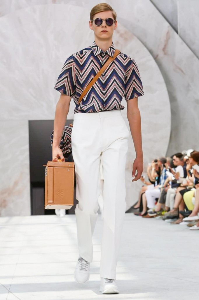 At Louis Vuitton, suitcases will always find their way onto the catwalk