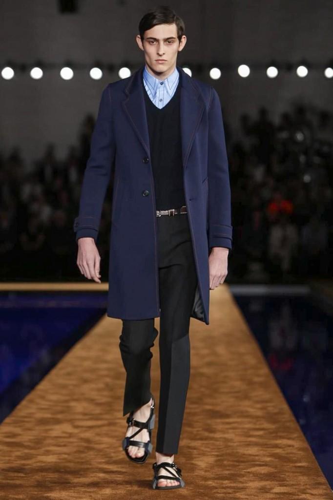 Key to every Prada show, the outstanding separates, here a killer A-line coat, Prada Spring 2015