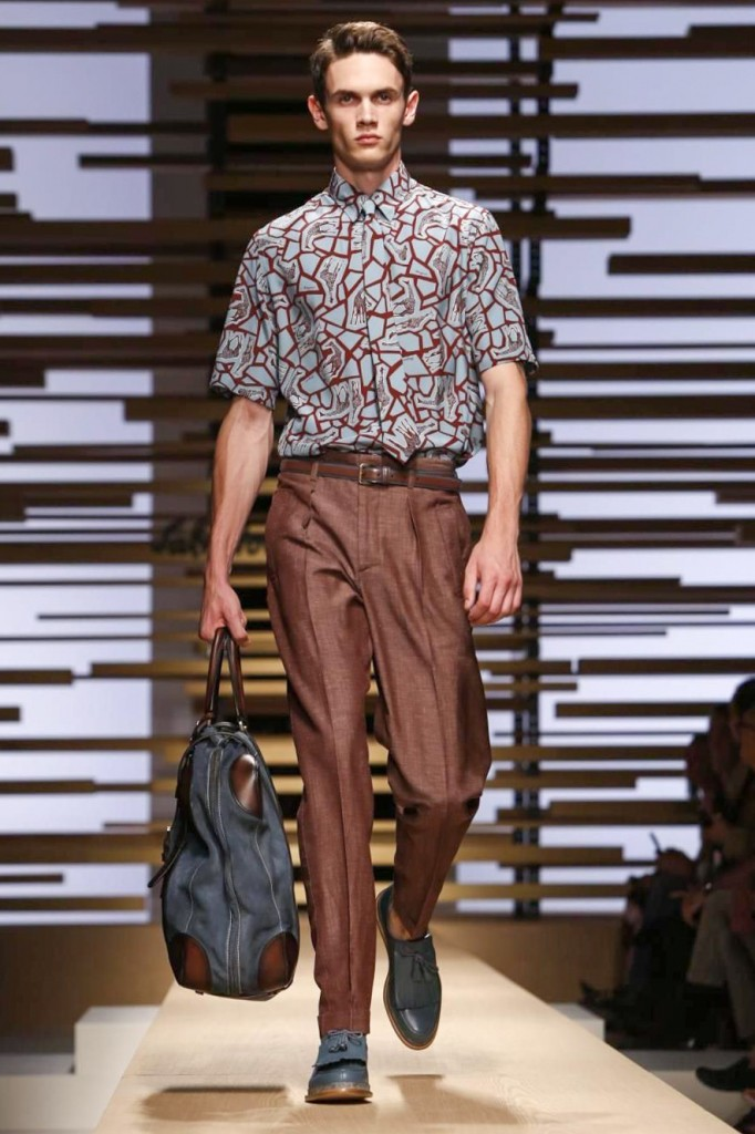 Playful giraffe-printed shirts set the mood, Salvatore Ferragamo