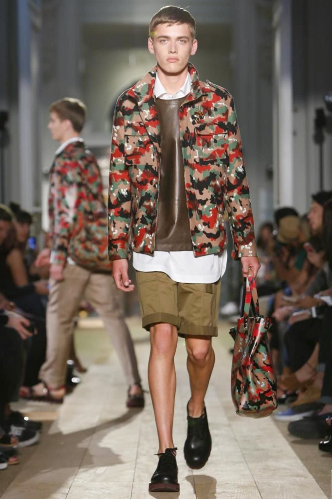 There is always a dash of camouflage in Valentino Men's