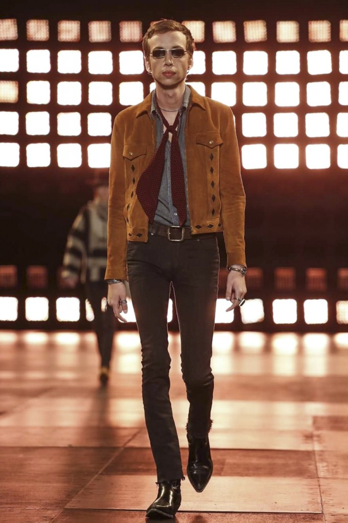 Slimane's skinny jeans look good in every single season, Saint Laurent