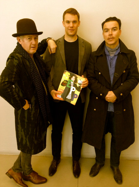 The world's best goalkeeper in GA with Achtung and Sepp editors Godfrey Deeny and Markus Ebner Giorgio Armani F/W 2015