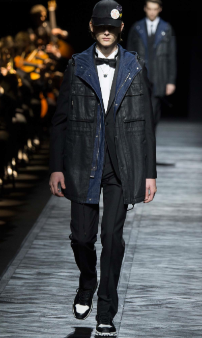 A touch of denim gives the tailoring street cred  Dior Homme