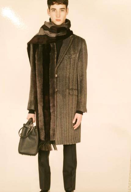 Yes, that's a striped fur coat Fendi
