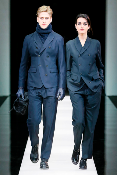 Cutting the best suit in town Giorgio Armani F/W 2015