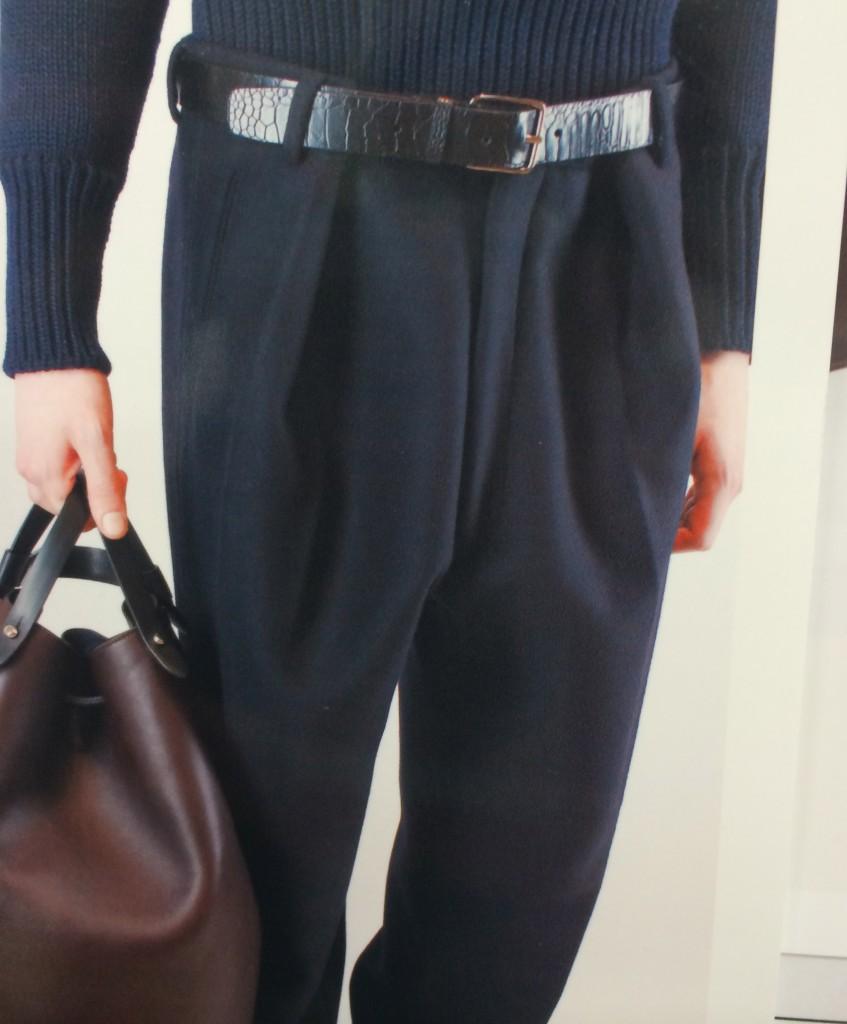 Jil Sander's new pleated pant