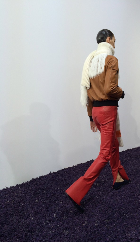 Yes, the red leather pant is one of Anderson's staples now