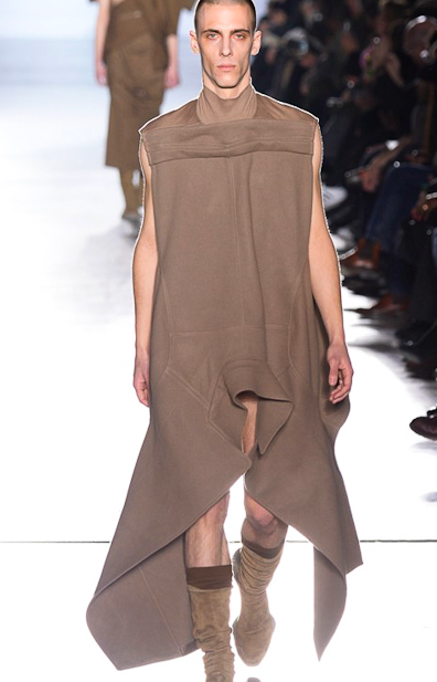 The look is swinging Rick Owens