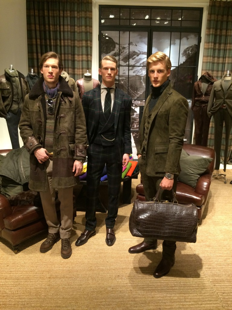 Gents posing in Purple Label; ideal new nephews of Lord Grantham