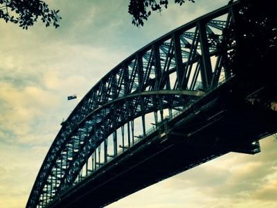 This city boasts many wonderful bridges; here Sydney Harbour Bridge.
