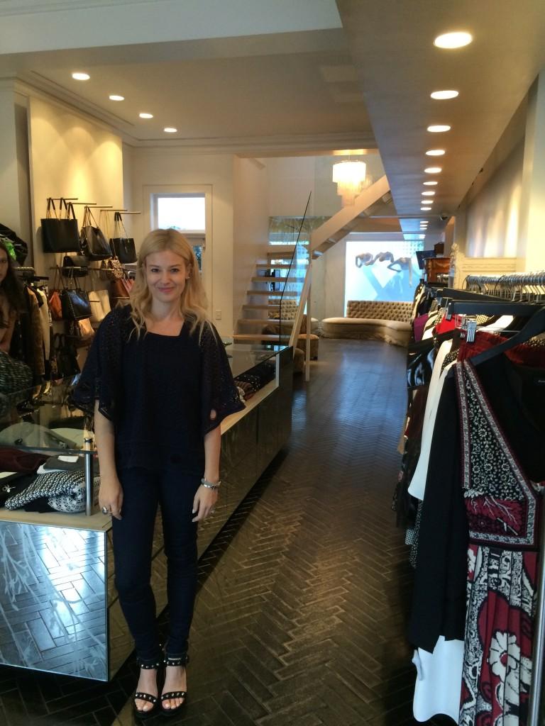 Eva Galambos in her store Parlour X.