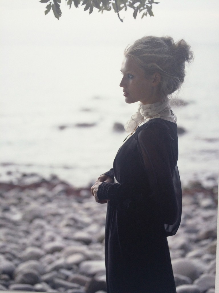 Hamburg blonde Toni Garrn, another German Lagerfeld favorite  Hyères