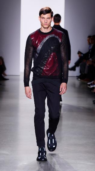 Italo's crazy wave print. Calvin Klein SS 2016