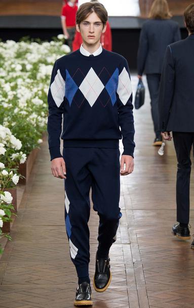 Dior Homme's sportswear in Argyle Dior Homme