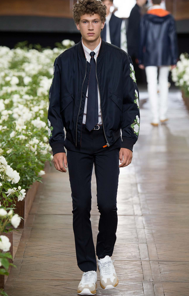 Even the bomber jacket gets a new spin with floral patches Dior Homme