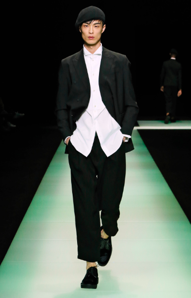 Black and white contrasting at its best Emporio Armani
