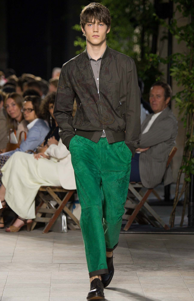 Suede pants will never look better Hermès