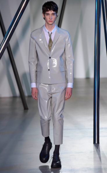 This suit looks more like fetish gear than German tailoring Jil Sander