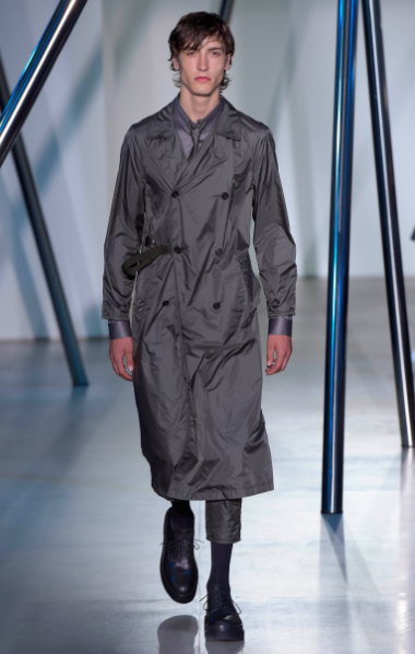 The best looks were the coats, a reminder of the fantastic winter collection Jil Sander