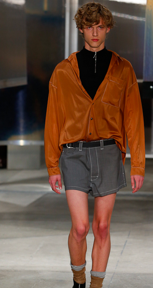 Prada The shorts are short in the opening look