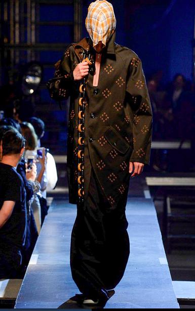 Beautiful coats throughout the show Raf Simons