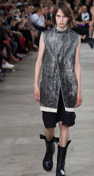 Nobody treats leather more inventively than Owens Rick Owens
