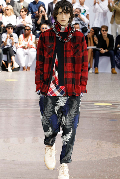 Abe understands how to combine clashing prints and tartans Sacai