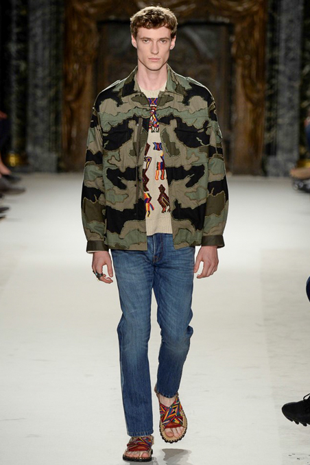 Valentino No chance of blowing your cover in this camouflage jacket