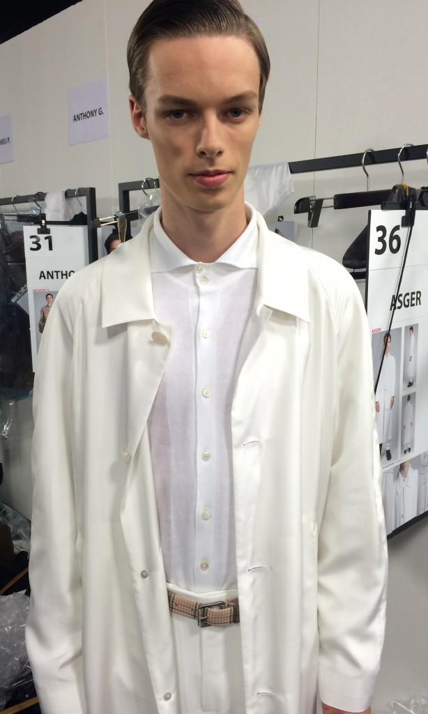 White coat and shirt Ermenegildo Zegna