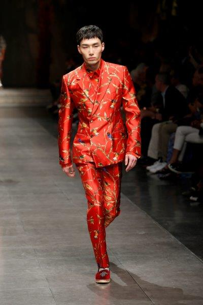 Red dragon tailoring looking dangerous and fresh Dolce & Gabbana