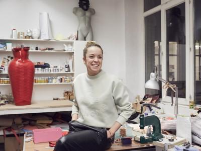 Eine strahlende Designerin