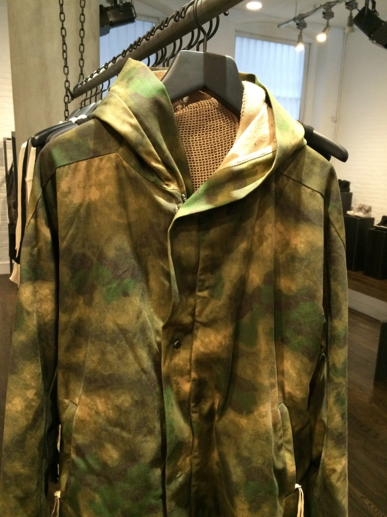 Saberi was inspired by the Bundeswehr for this parka