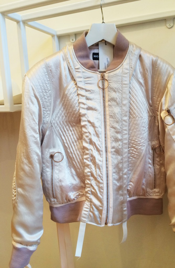 Padded panel bomber jacket