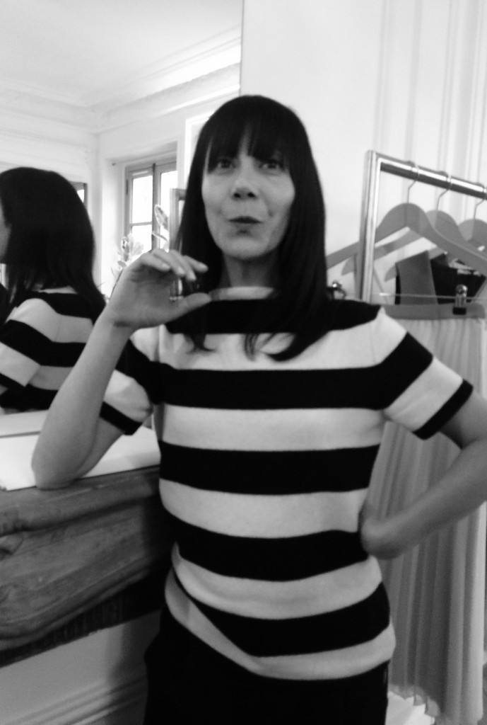 Bouchra Jarrar in her signature look at her studio