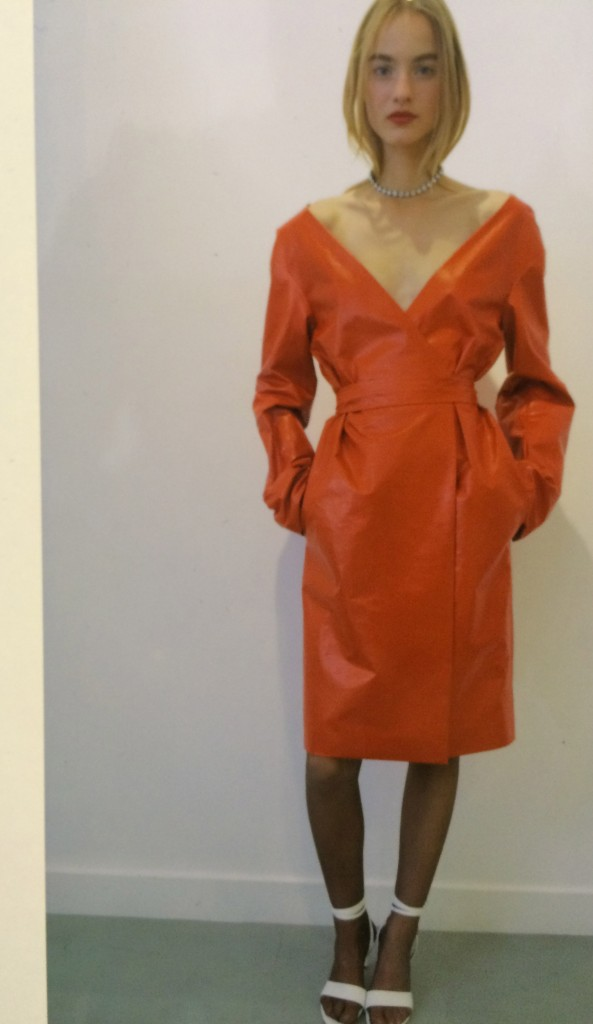 The red leather number Nina Ricci