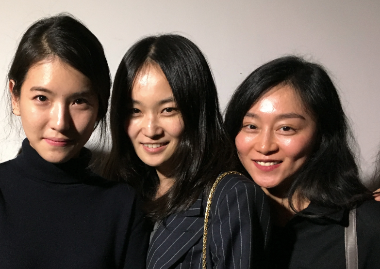 Seoul It Girls: Mirim Lee (middle) fashion director of Korean Harper's Bazaar with Low Classic designer Myung shin Lee (left) and colleague (right). Seoul Fashion Week