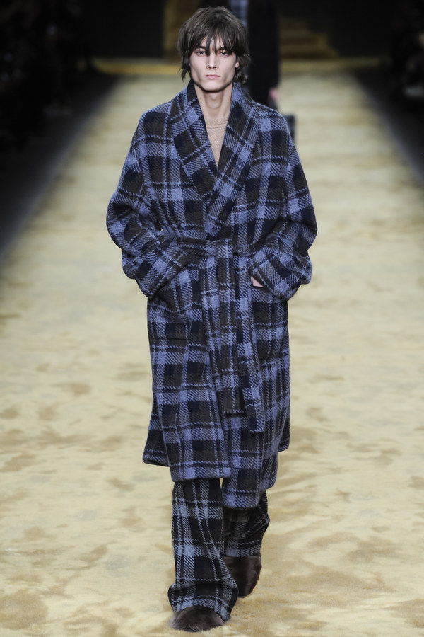 Gingham check gown Fendi