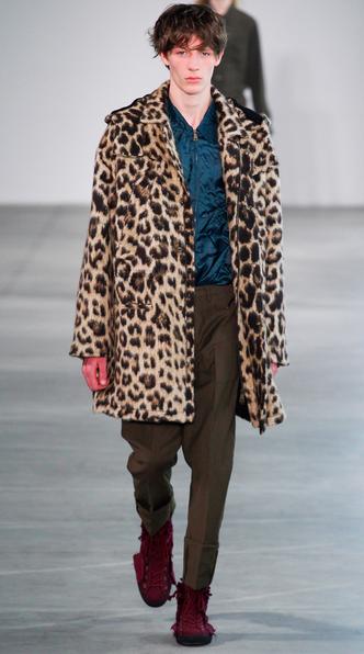 Faux leopard parka No. 21