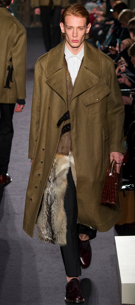 Luxury military: a fur lined parka