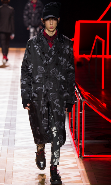 Codes of the house but cool: Dior Homme's rose print