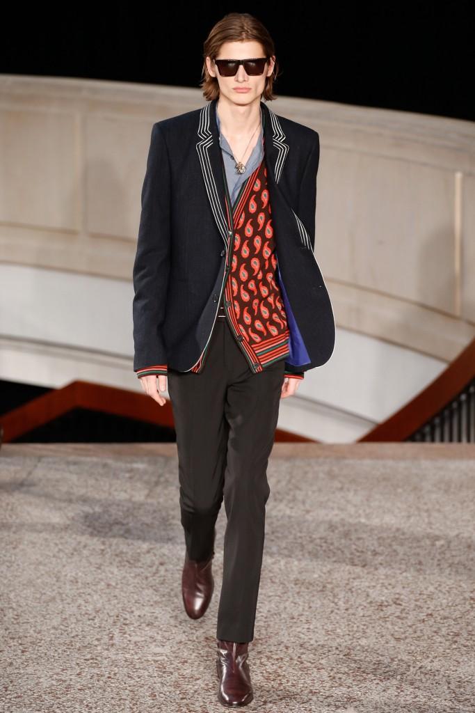 Patterned knit waistcoat