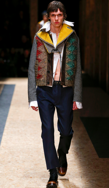 Taken apart, pieces were brilliant like this jacket Prada