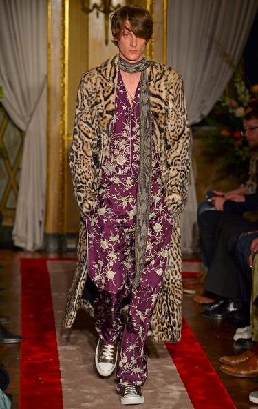 Leopard coat meets Pajama Roberto Cavalli
