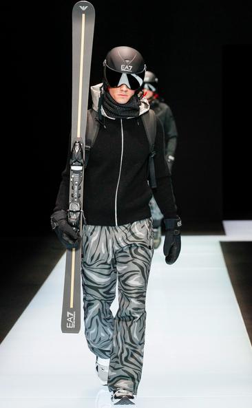 That's range: Armani's skiers Emporio Armani