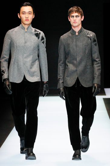 Armani likes it gray again Emporio Armani